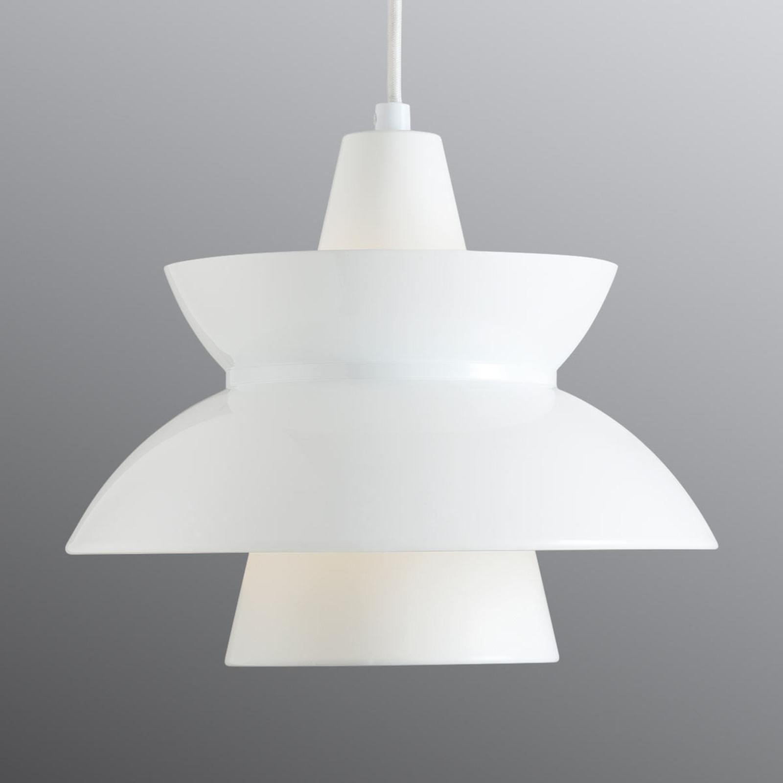 Hanglamp Doo-Wop met dubbele kap wit