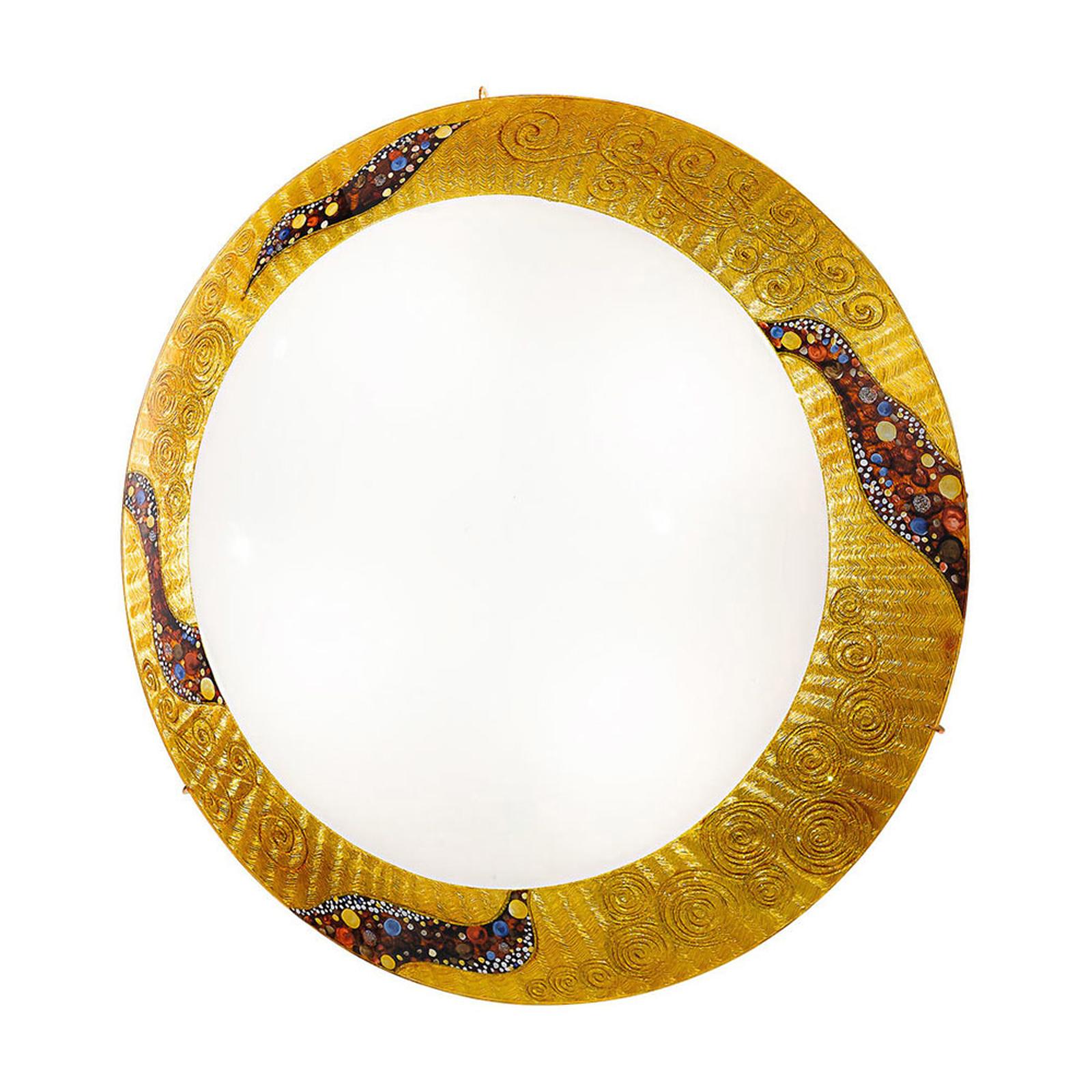 KOLARZ Serena Kiss Gold vegglampe 24 karat Ø 40 cm