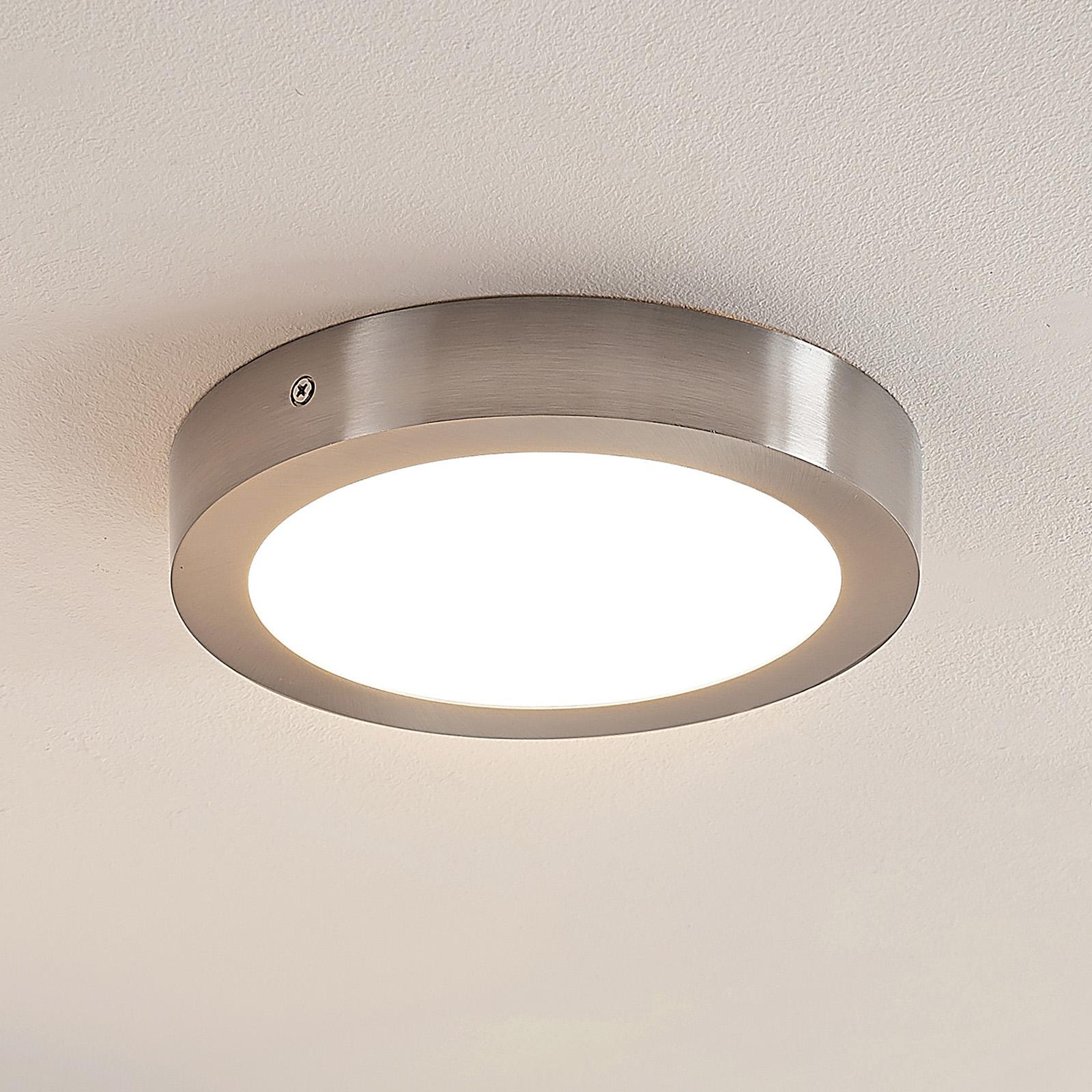 ELC Merina LED plafondlamp nikkel, 21,5cm