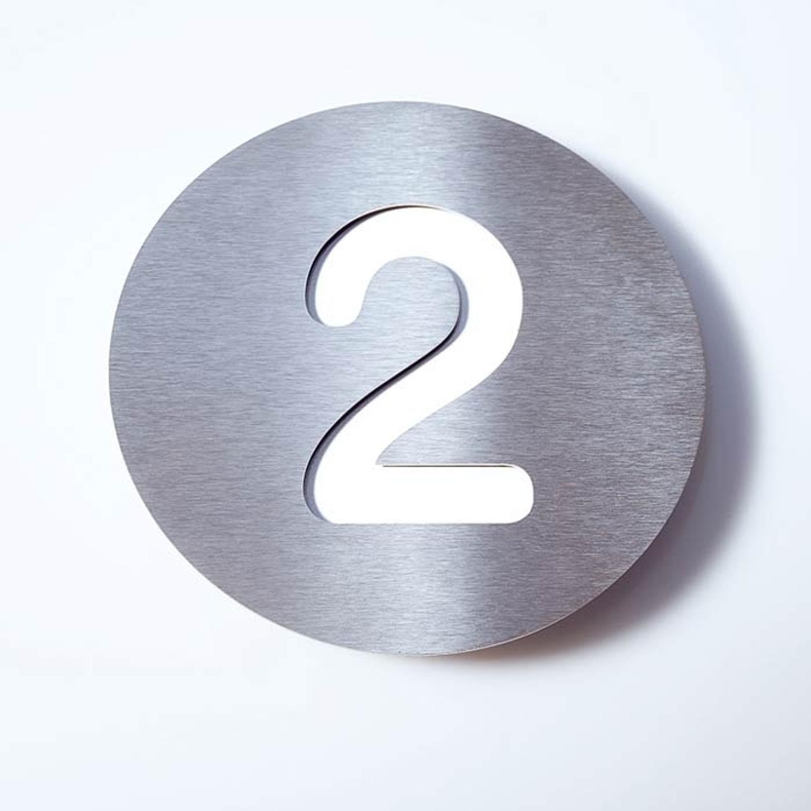 Número de casa Round de acero inoxidable - 2