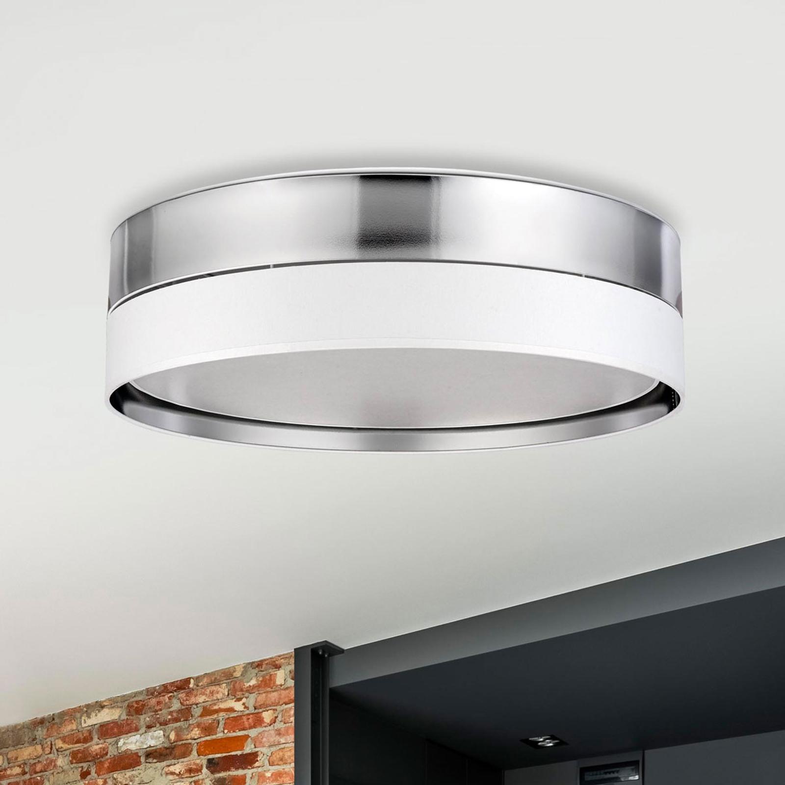 Hilton taklampe, hvit/sølv, Ø 60 cm