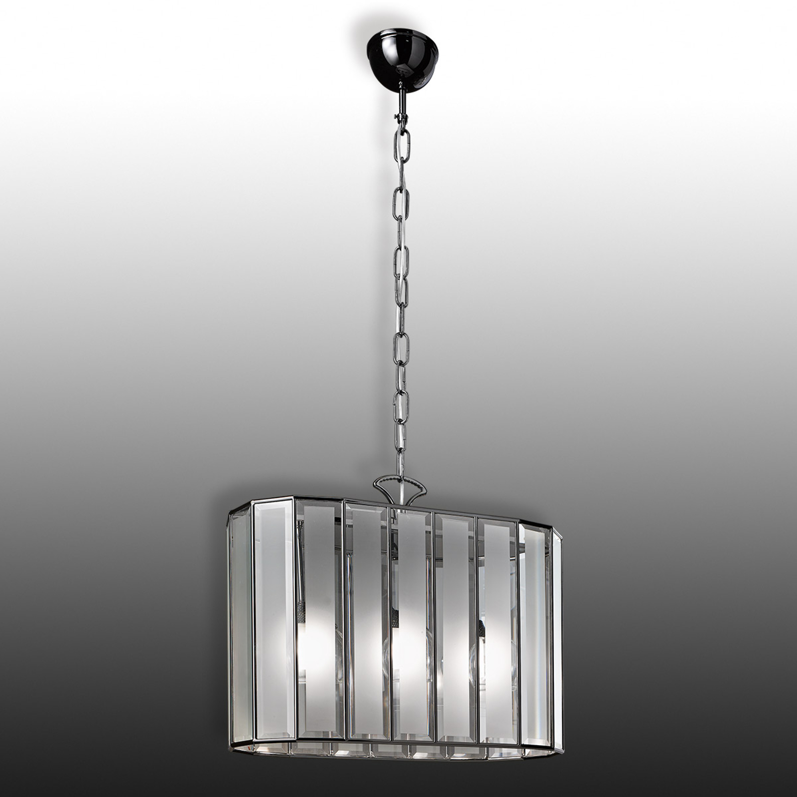 Buona Visione ovale hanglamp 3-lichts