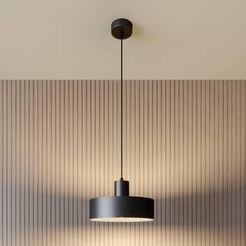 Závěsné světlo Rif z kovu, černé, Ø 25 cm