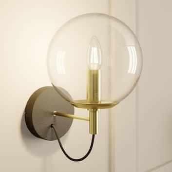 Lucande Sotiana aplique, bola de vidrio, latón