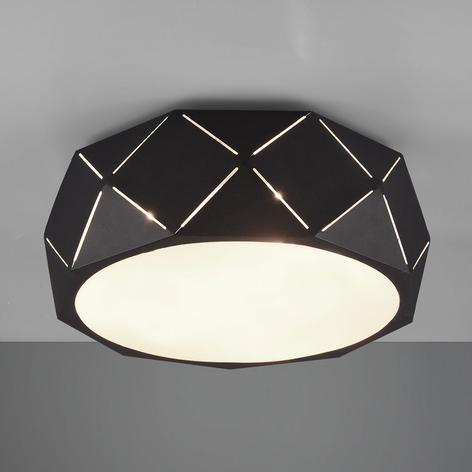 Lámpara de techo Zandor con pantalla negra