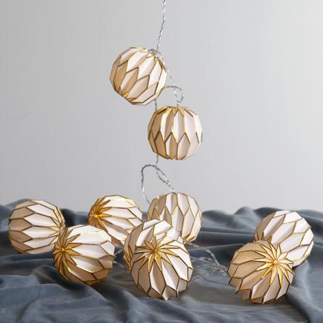 Catena luminosa LED Origam, oro