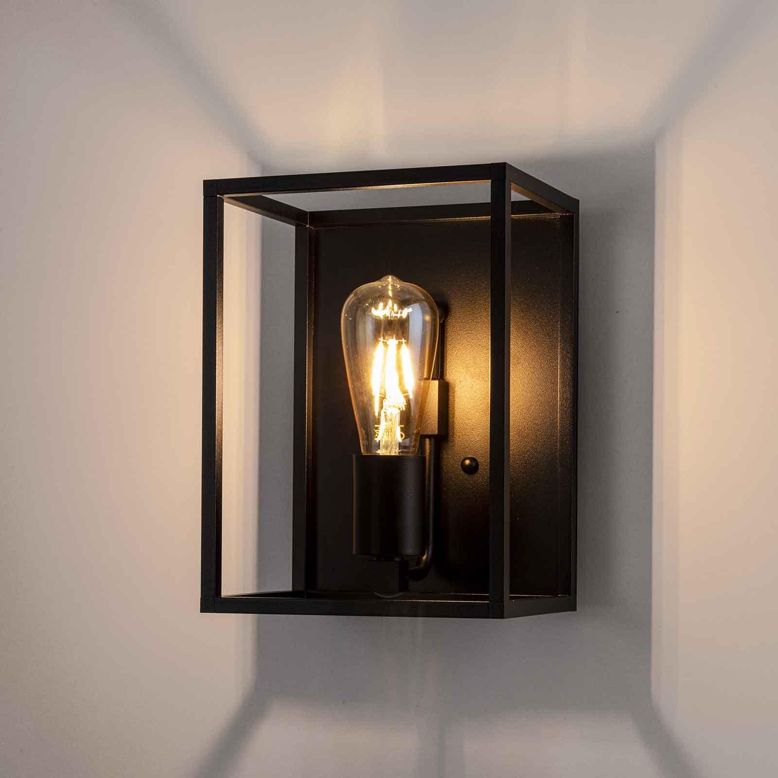 Wandlamp Cubic³ 3382 zwart, breedte 20 cm
