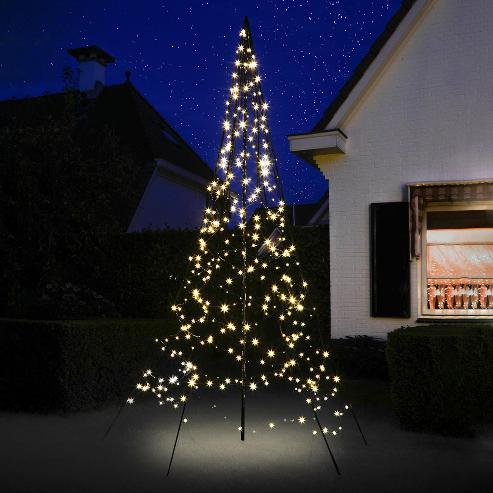 Fairybell® Weihnachtsbaum mit Mast, 3 m 360 LEDs