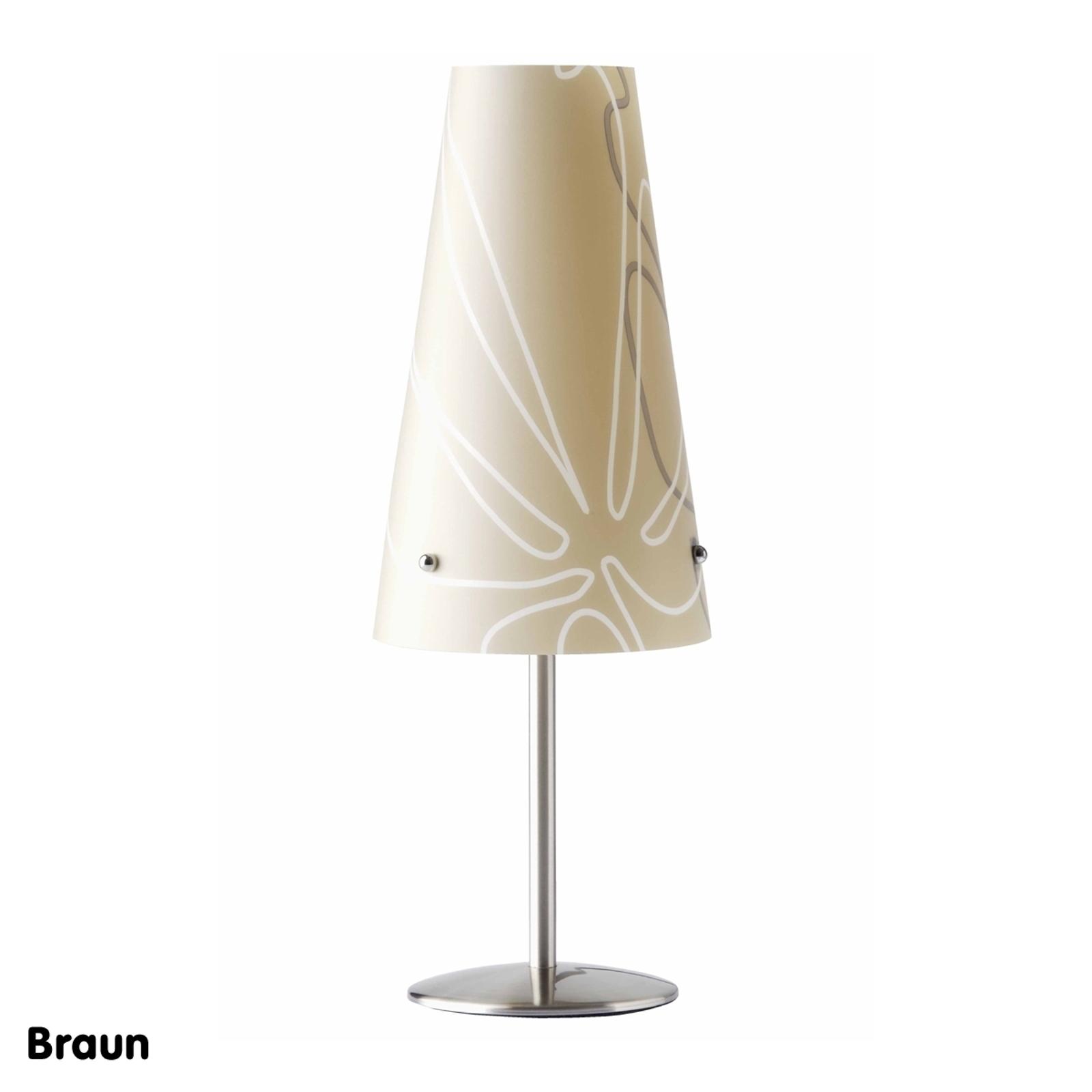 Nowoczesna lampa stołowa Isi, brązowa