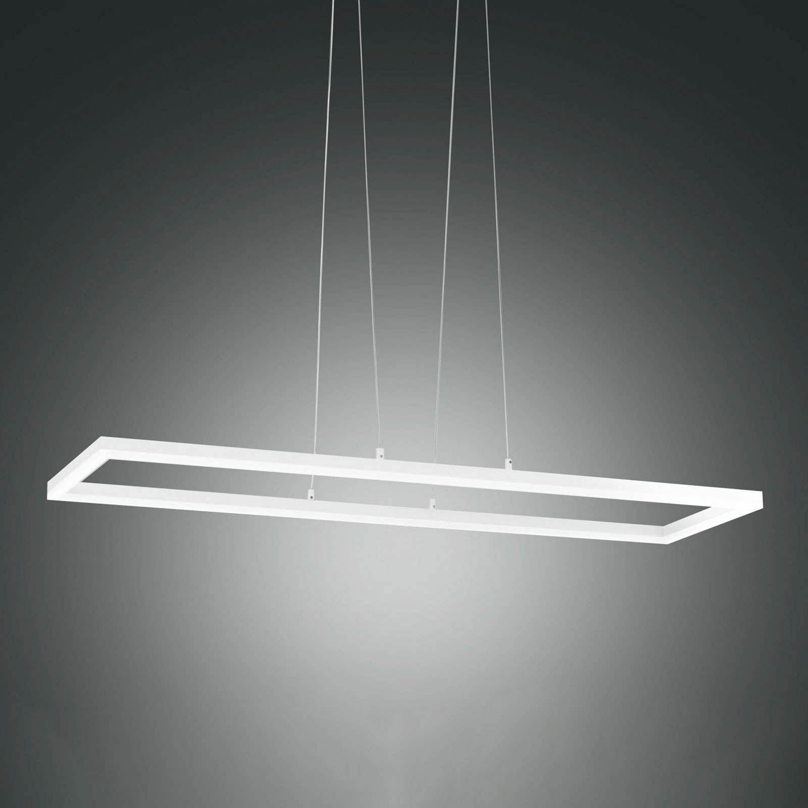 LED-Pendelleuchte Bard, 92x32 cm in Weiß