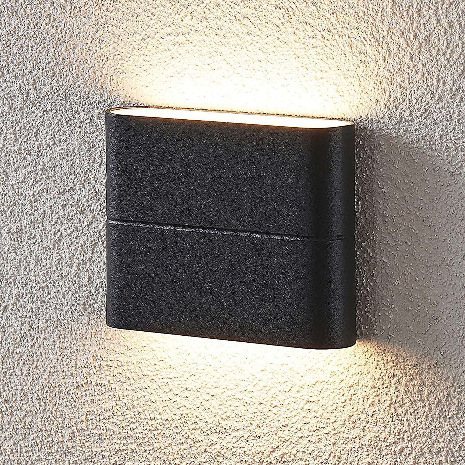 LED-Außenwandleuchte Salka, dunkelgrau, 11,5 cm