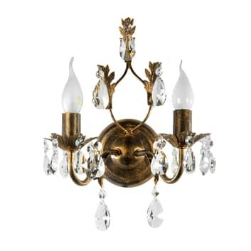 Vägglampa Teresa som ljuskrona, 2 lampor