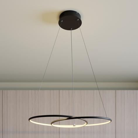 Lindby Lucy LED-riippuvalaisin, 70 cm, matta musta
