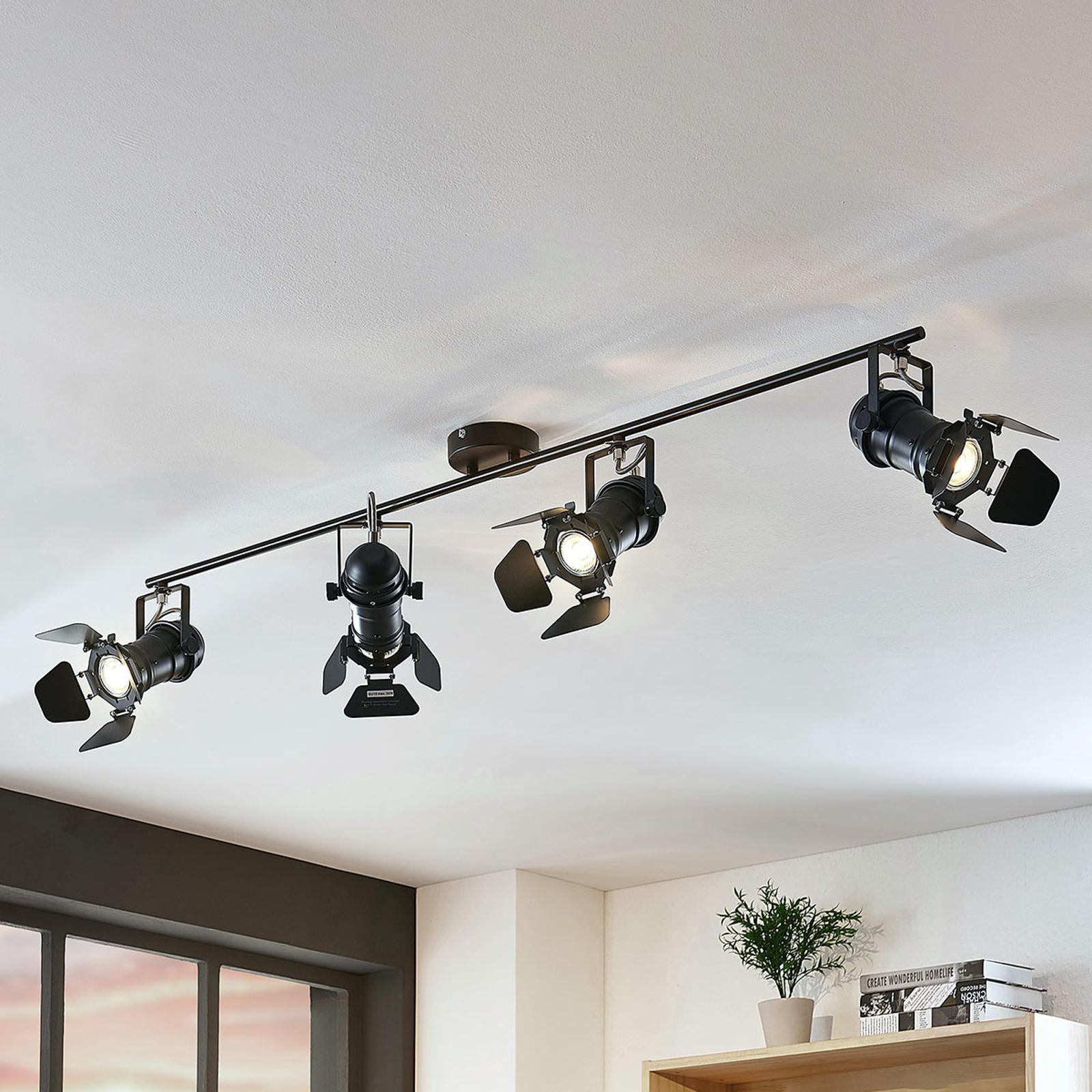 Loftspot Tilen m/4 lyskilder i projektør-look