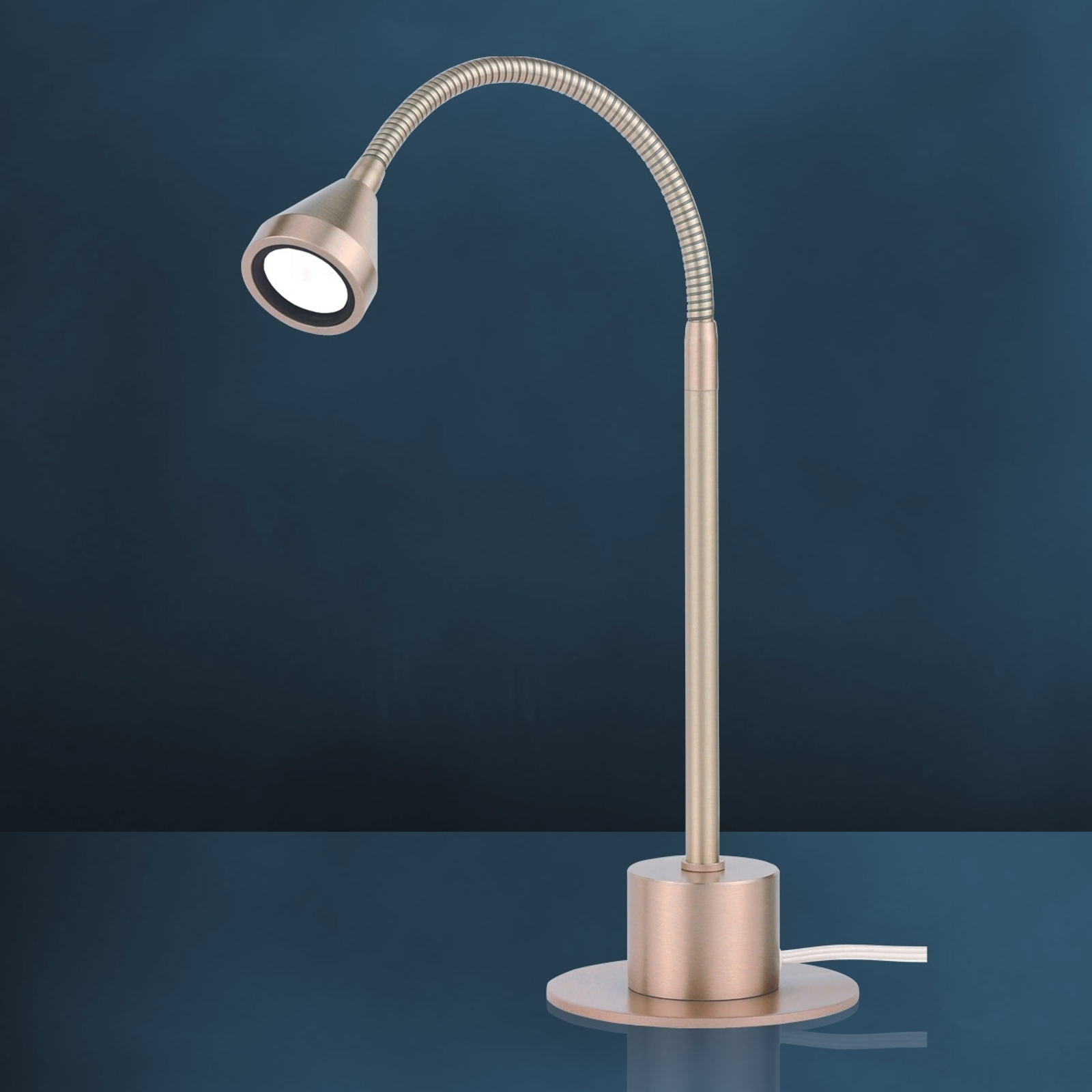 Lámpara mesa LED MINI, brazo flex blanco universal