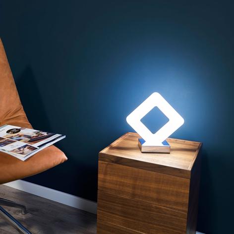 Geradlinig gestaltete LED-Tischlampe Pori