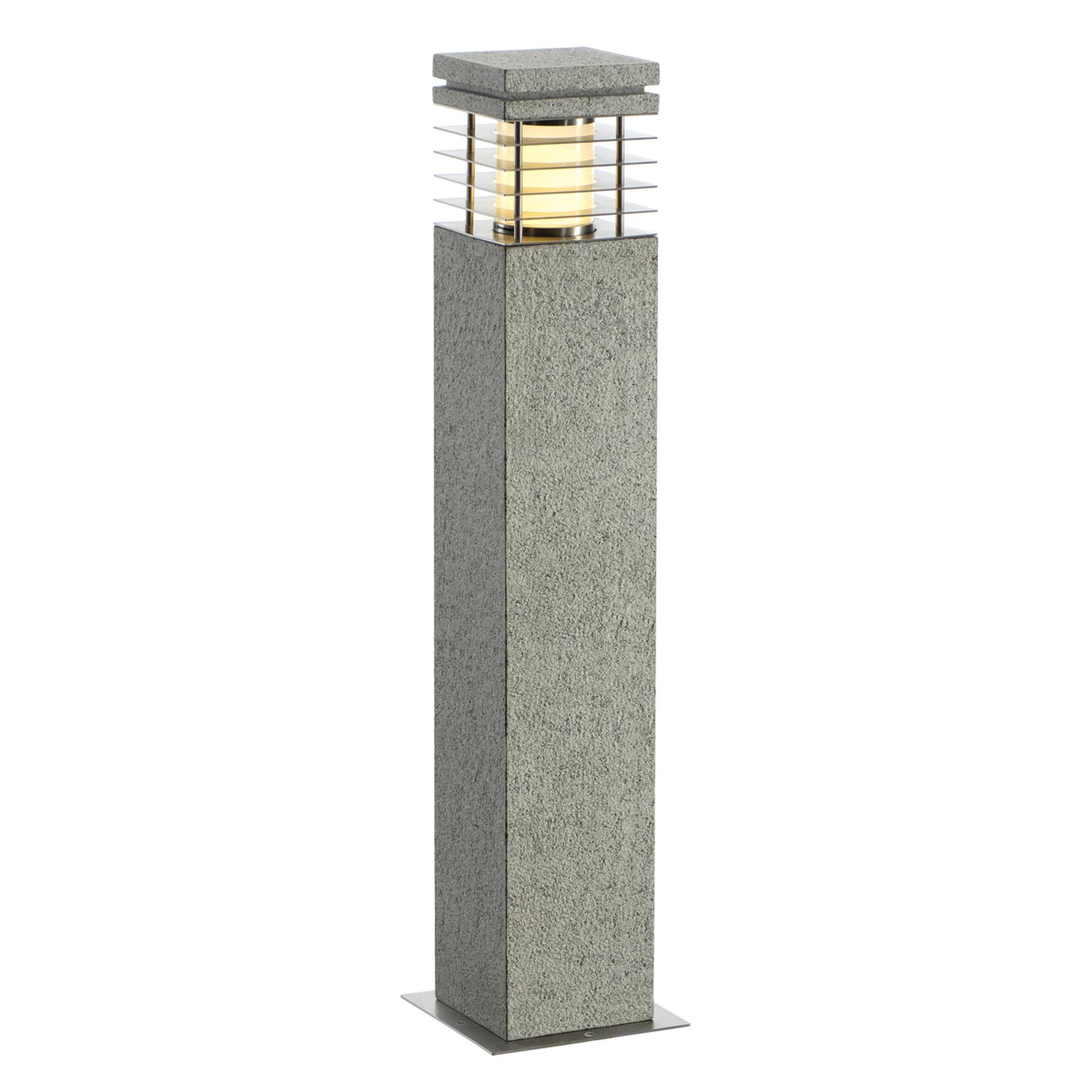 Borne lumineuse en grès ARROCK aspect granite