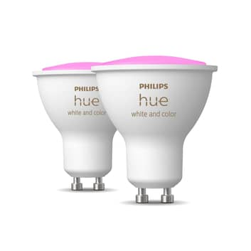 Philips Hue White & Color Ambiance 4,3W GU10 2-er