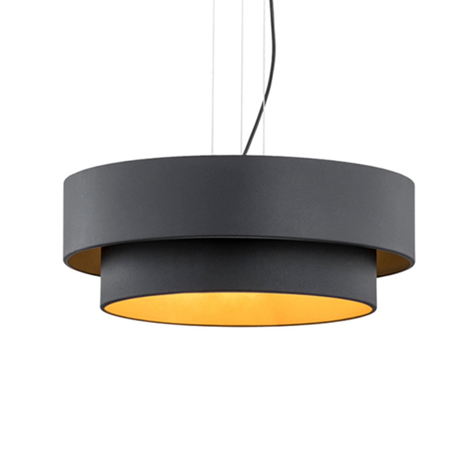 Fredik hængelampe, Ø 60 cm, sort/guld