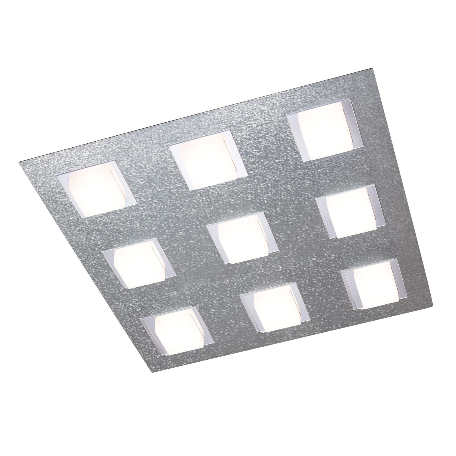 GROSSMANN Basic lampa sufitowa 9-pkt. aluminium