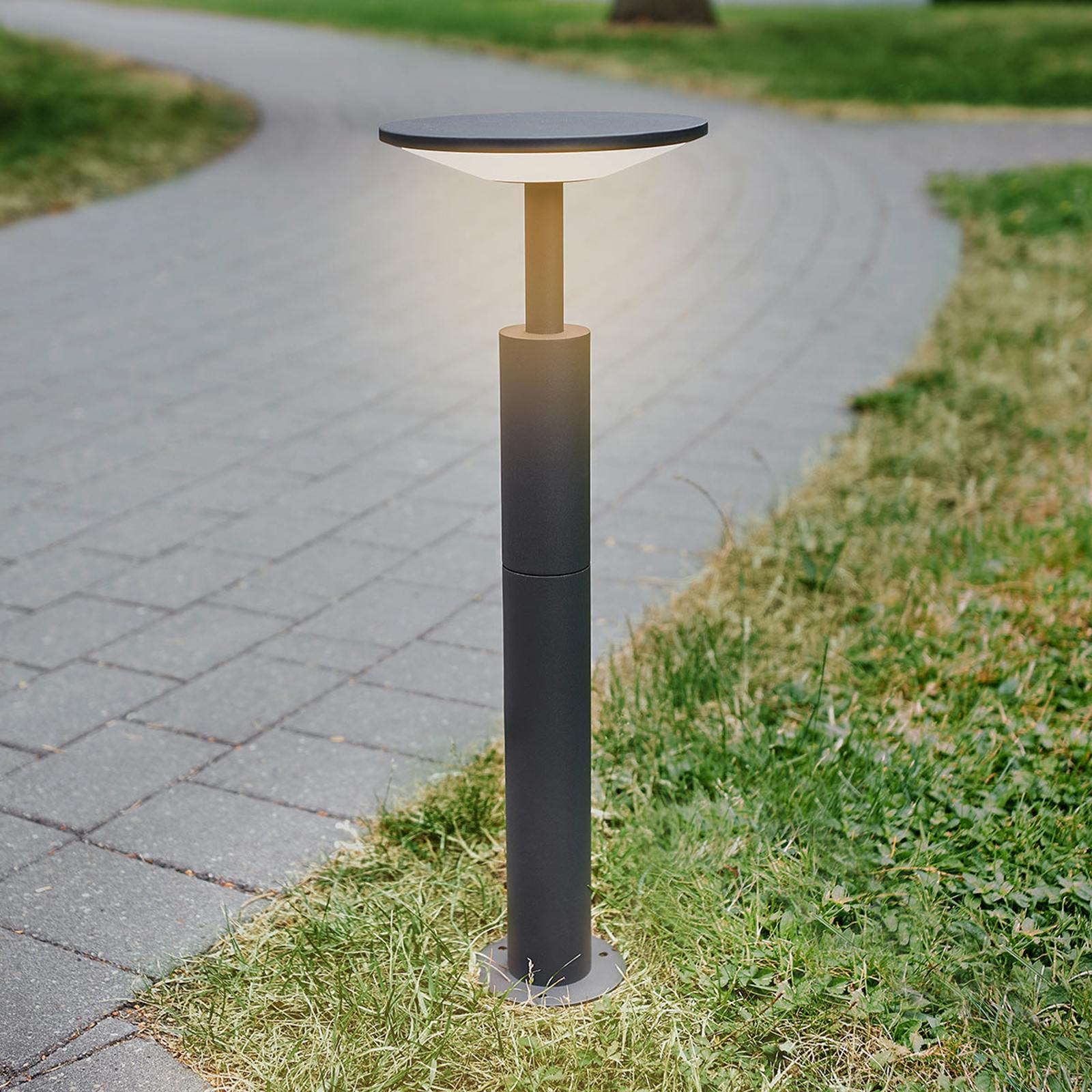 Antraciet gekleurde LED tuinpadverlichting Fenia