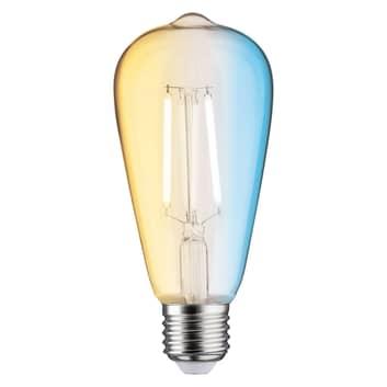 Paulmann LED-rustiklampa E27 7 W ZigBee, CCT