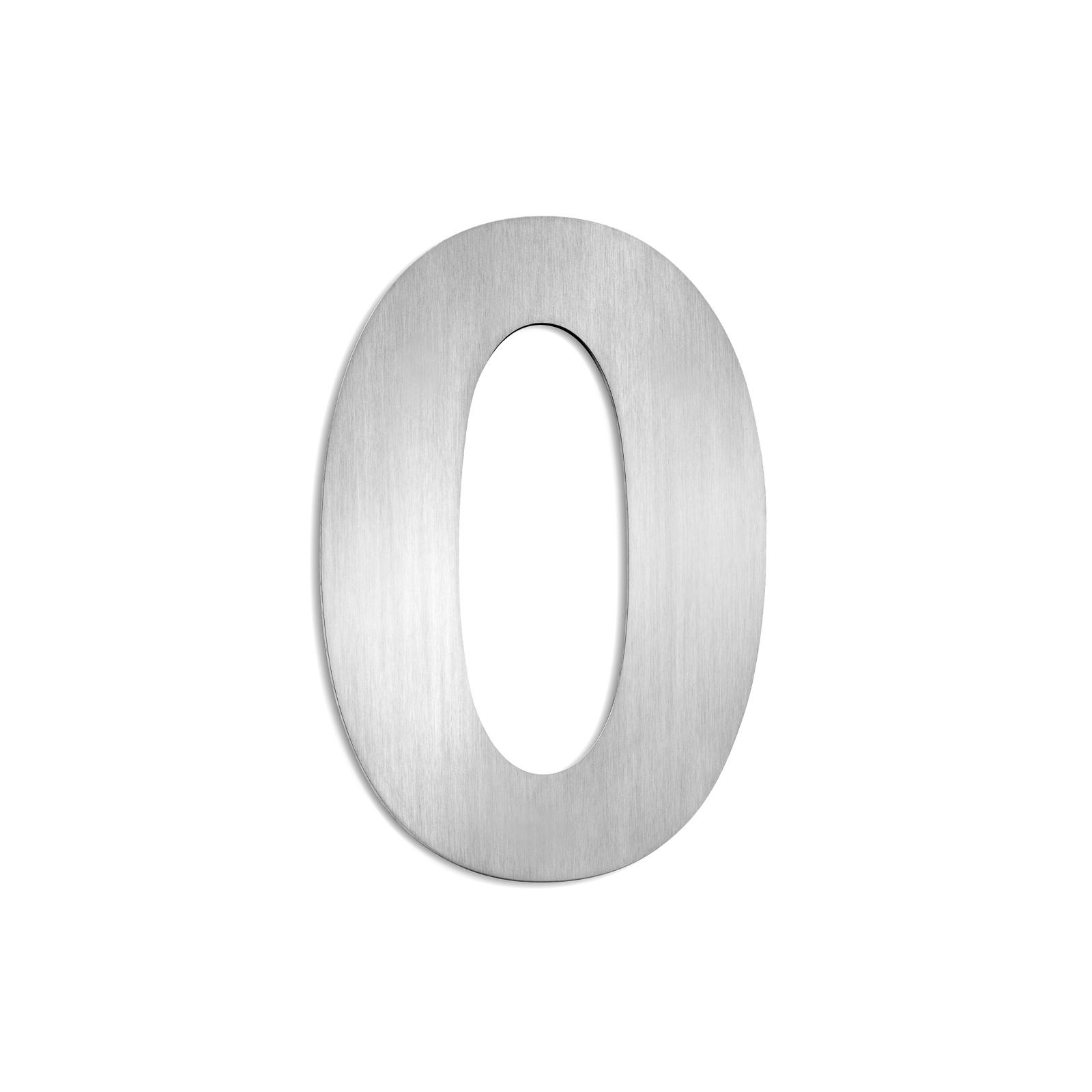 Domovní čísla z ušlechtilé oceli velikost 0