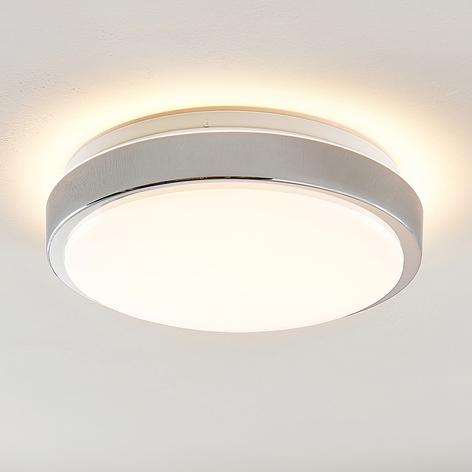 Lindby Camille plafonnier LED capteur Ø33cm chromé
