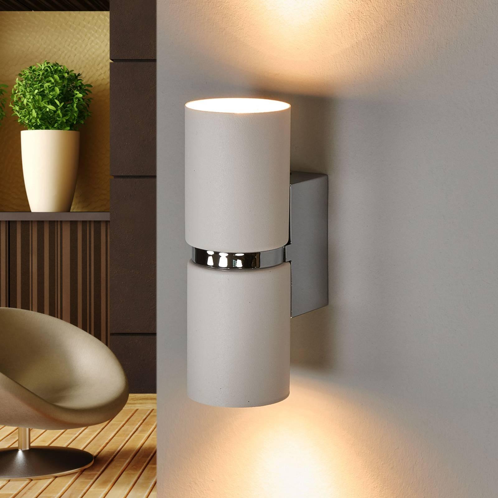 LED wandlamp Passa met 2 lampjes, rond, wit