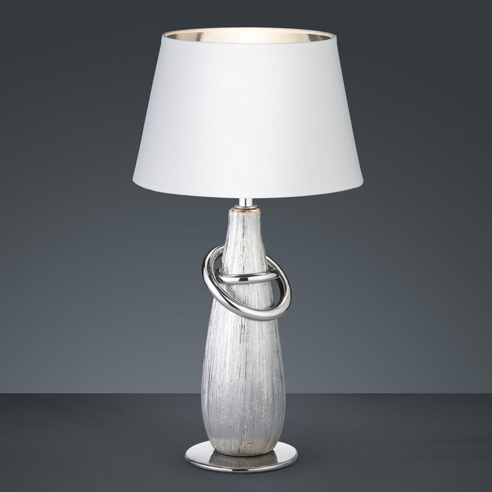 Thebes - tafellamp met zilveren keramische voet