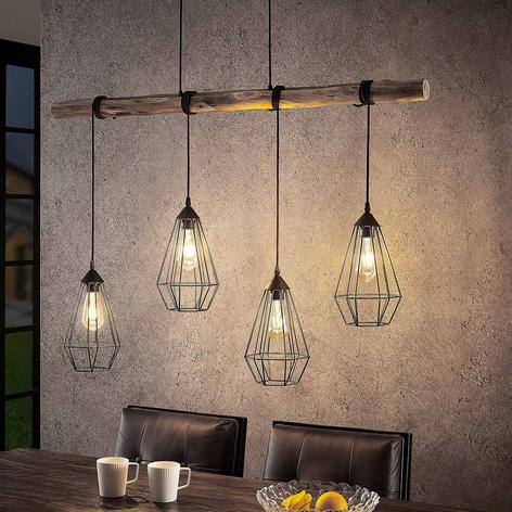 Lindby Eldarion -riippuvalaisin, 4-lamppuinen