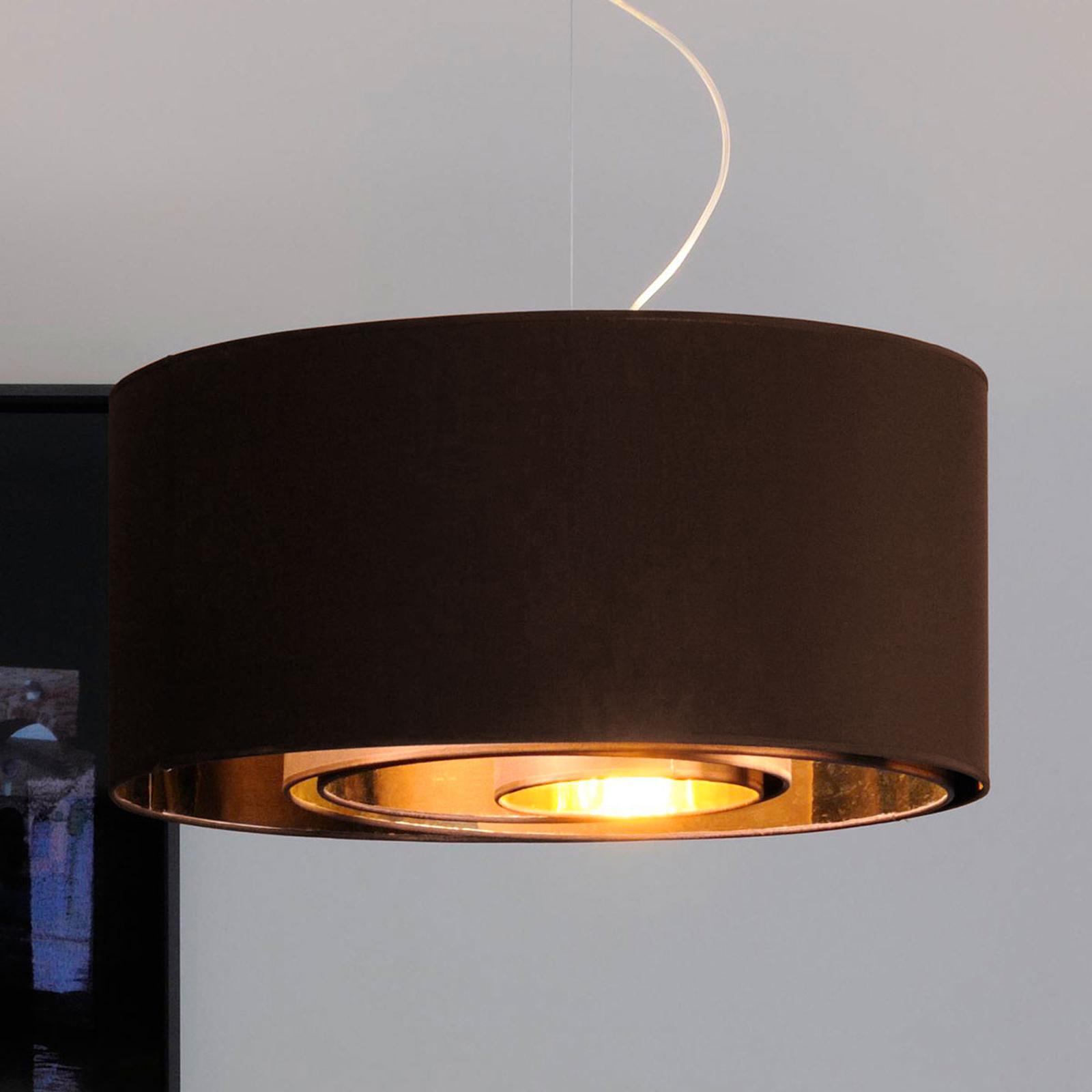 Lampa wisząca CIRCLES, 65 cm, brąz.-złota