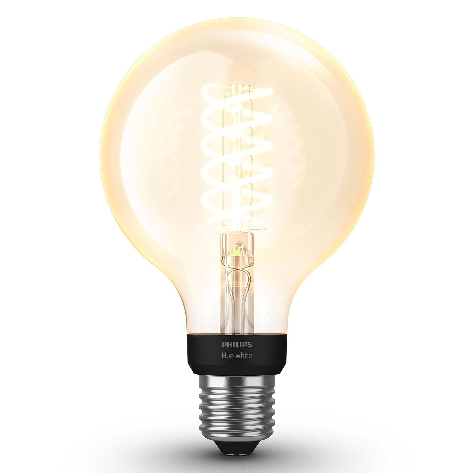 Philips Hue White 7 W E27 Filamentlampe Globe G95