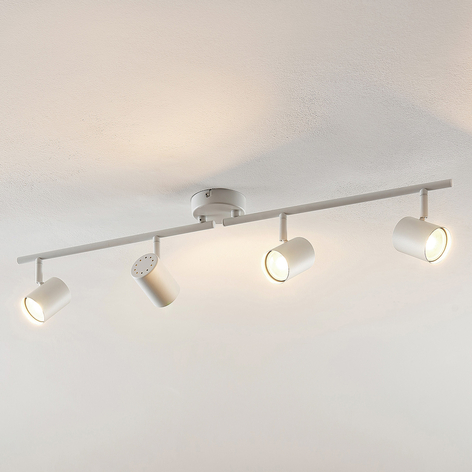 ELC Tomoki lámpara LED de techo, blanco, 4 luces