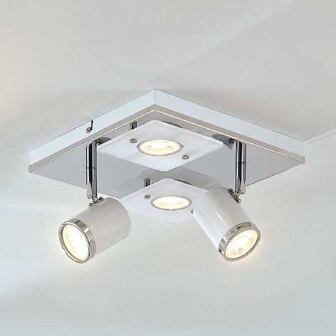 Plafoniera LED Alsuna, 4 punti luce, 24x24cm