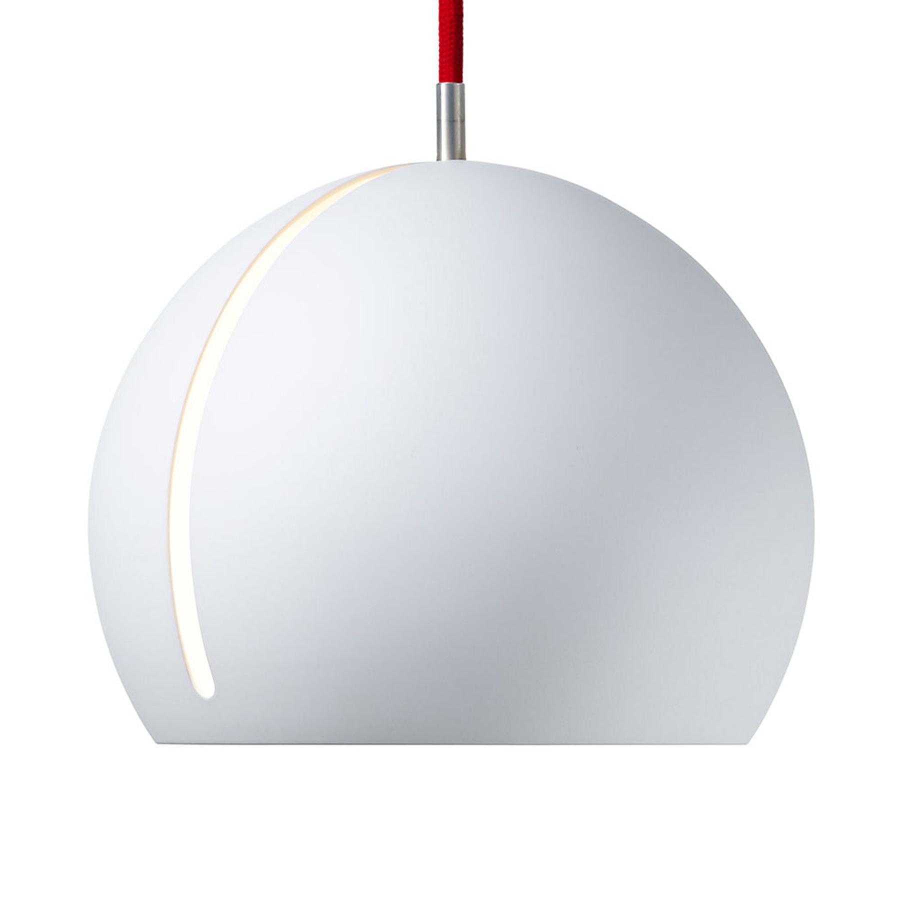 Nyta Tilt Globe hanglamp kabel 3m rood wit