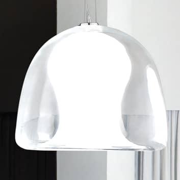 Hengelampe Naranza, krystallglass, Ø40cm hvit