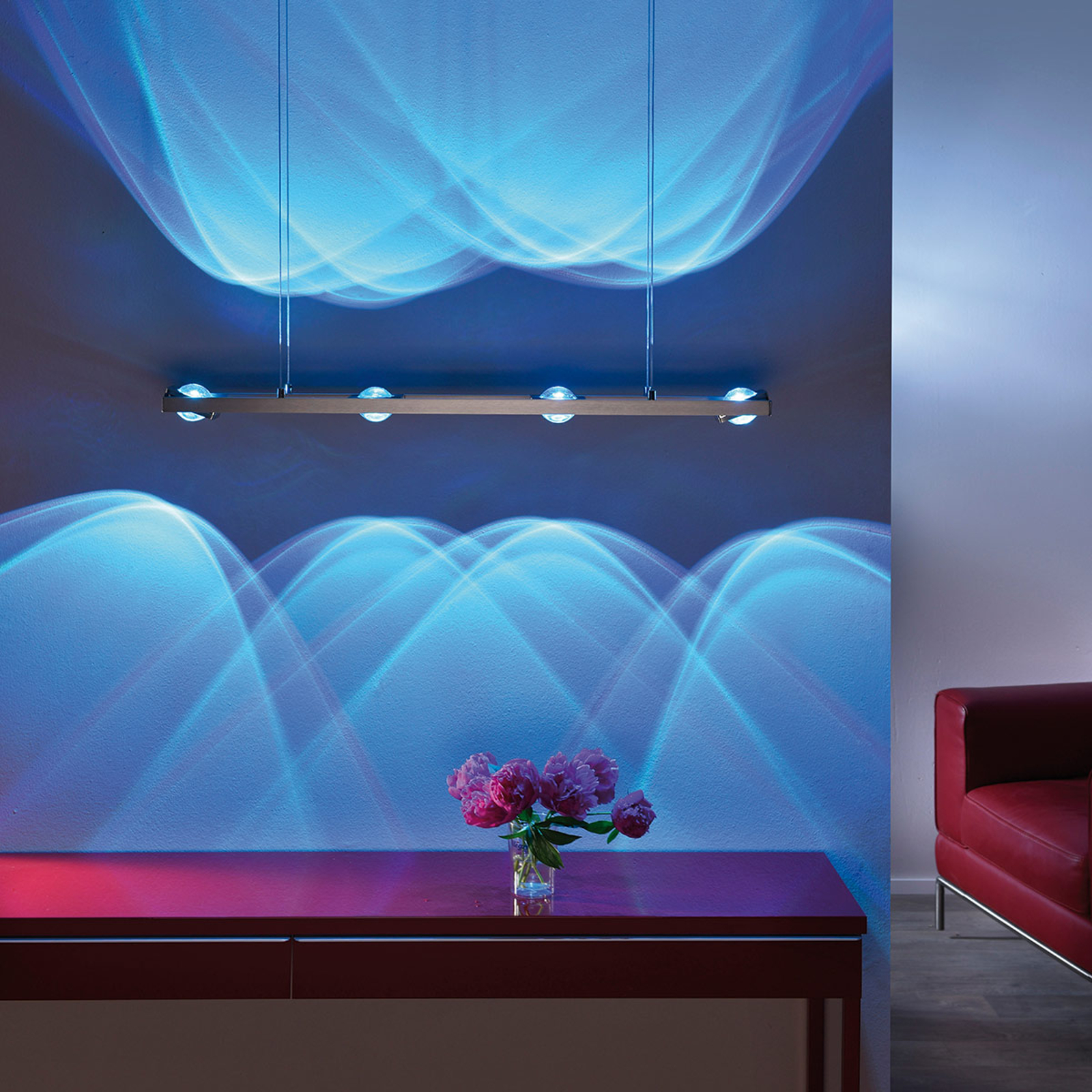 Paul Neuhaus Q-FISHEYE, Pendelleuchte Smart Home