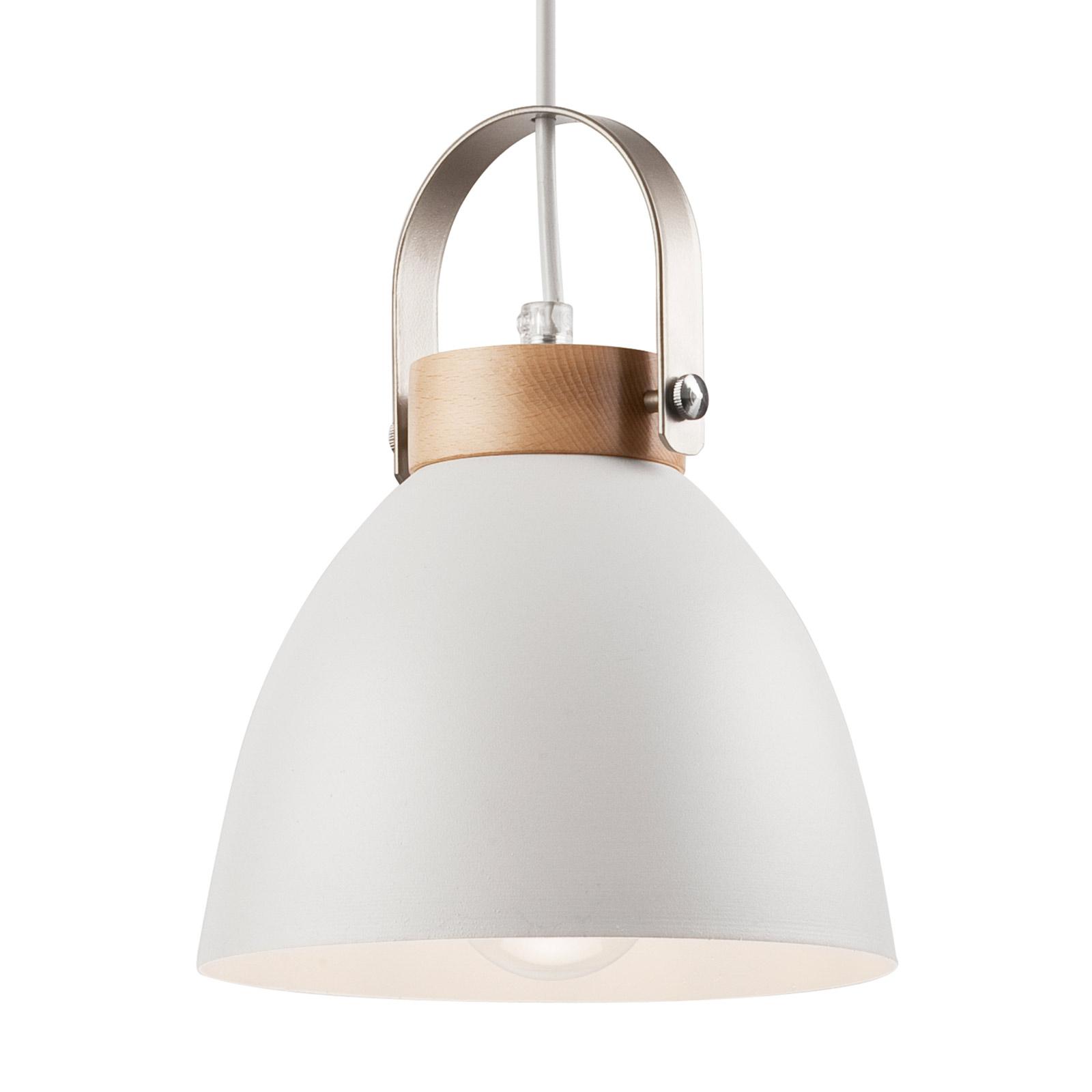 Závěsné světlo Bergen, jeden zdroj, bílá