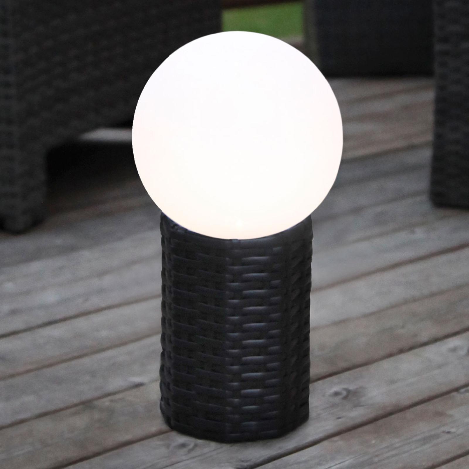 LED-Solar-Kugel Lug mit Sockel, Ø 20 cm