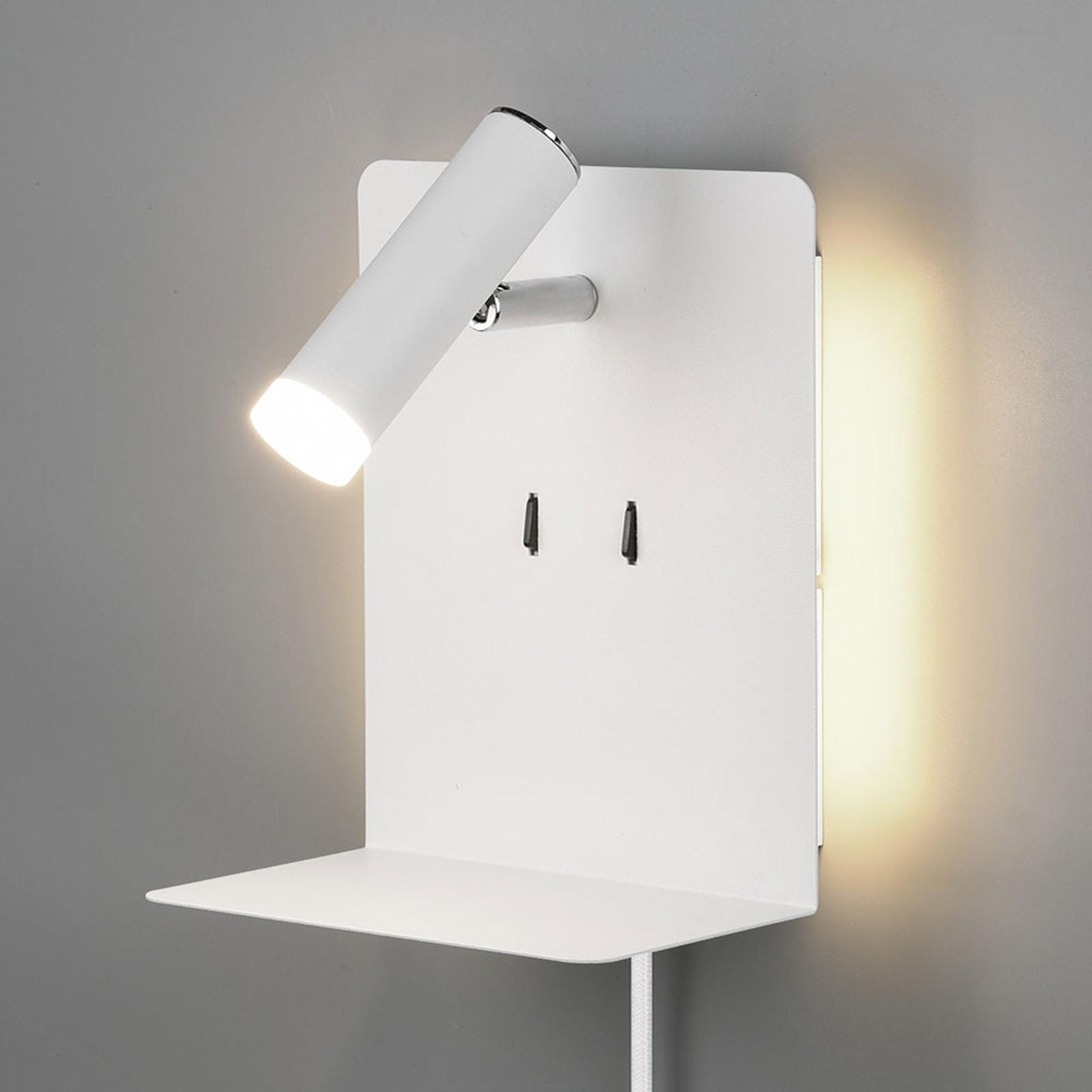 LED-vegglampe Element, matt hvit