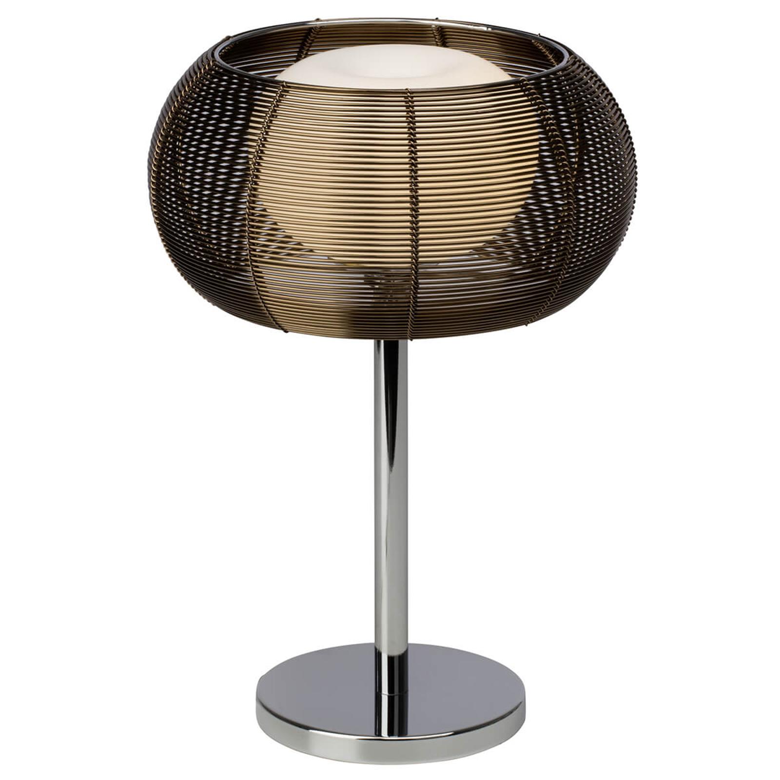 Elegancka lampa stołowa Relax, brąz