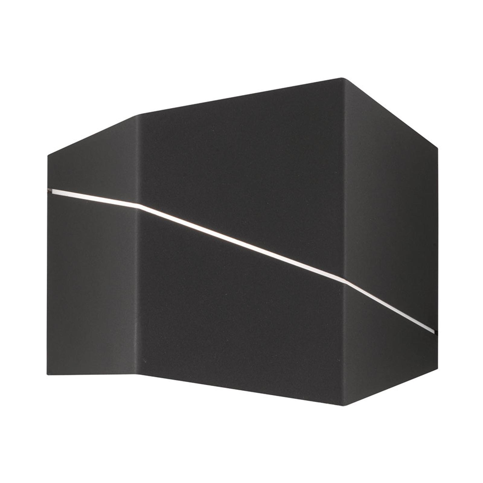 Zorro - moderne LED wandlamp, zwart mat, 18 cm