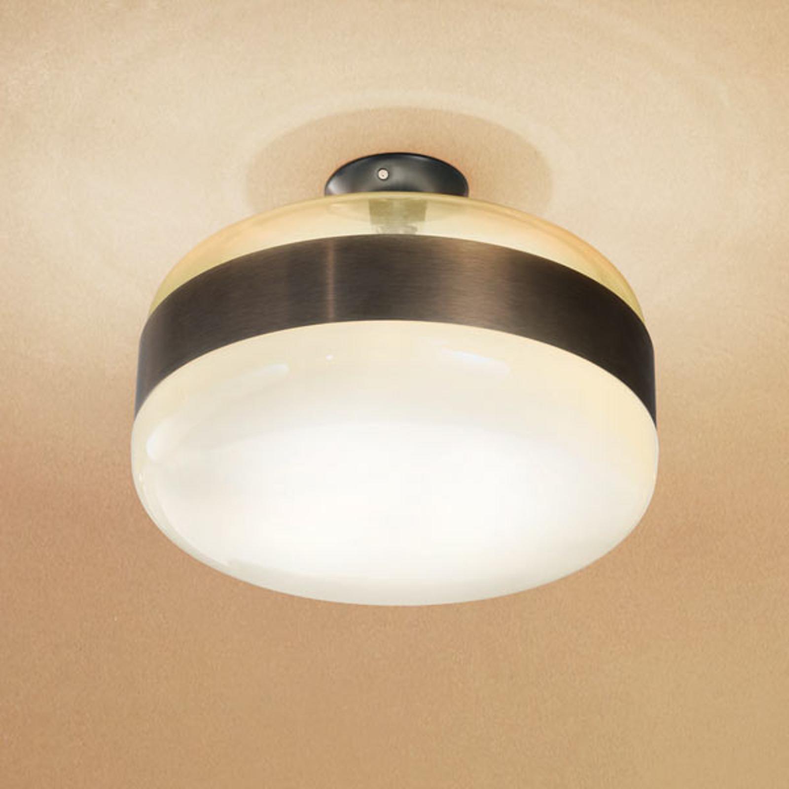 Lampa sufitowa Futura ze szkła Murano, brązowa