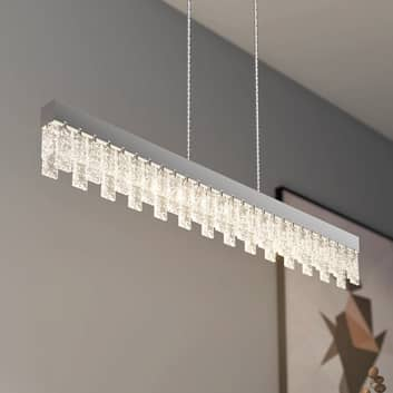 Lucande Bayano -LED-riippuvalaisin, kristalli