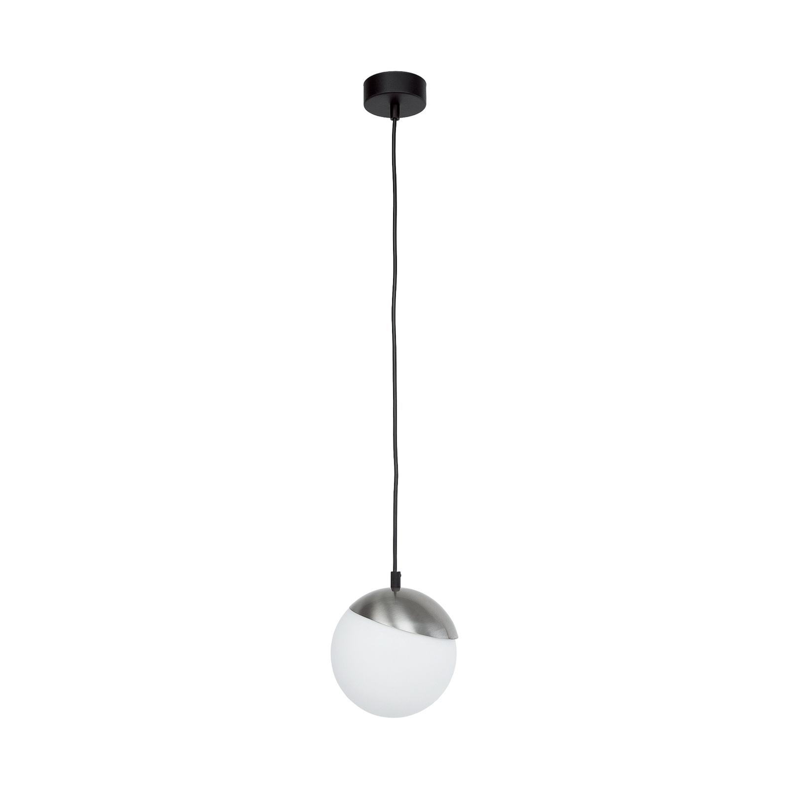 Suspension Torbole, opale/nickel, à 1 lampe