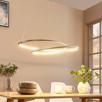 Mirasu - lámpara colgante LED grácil, níquel