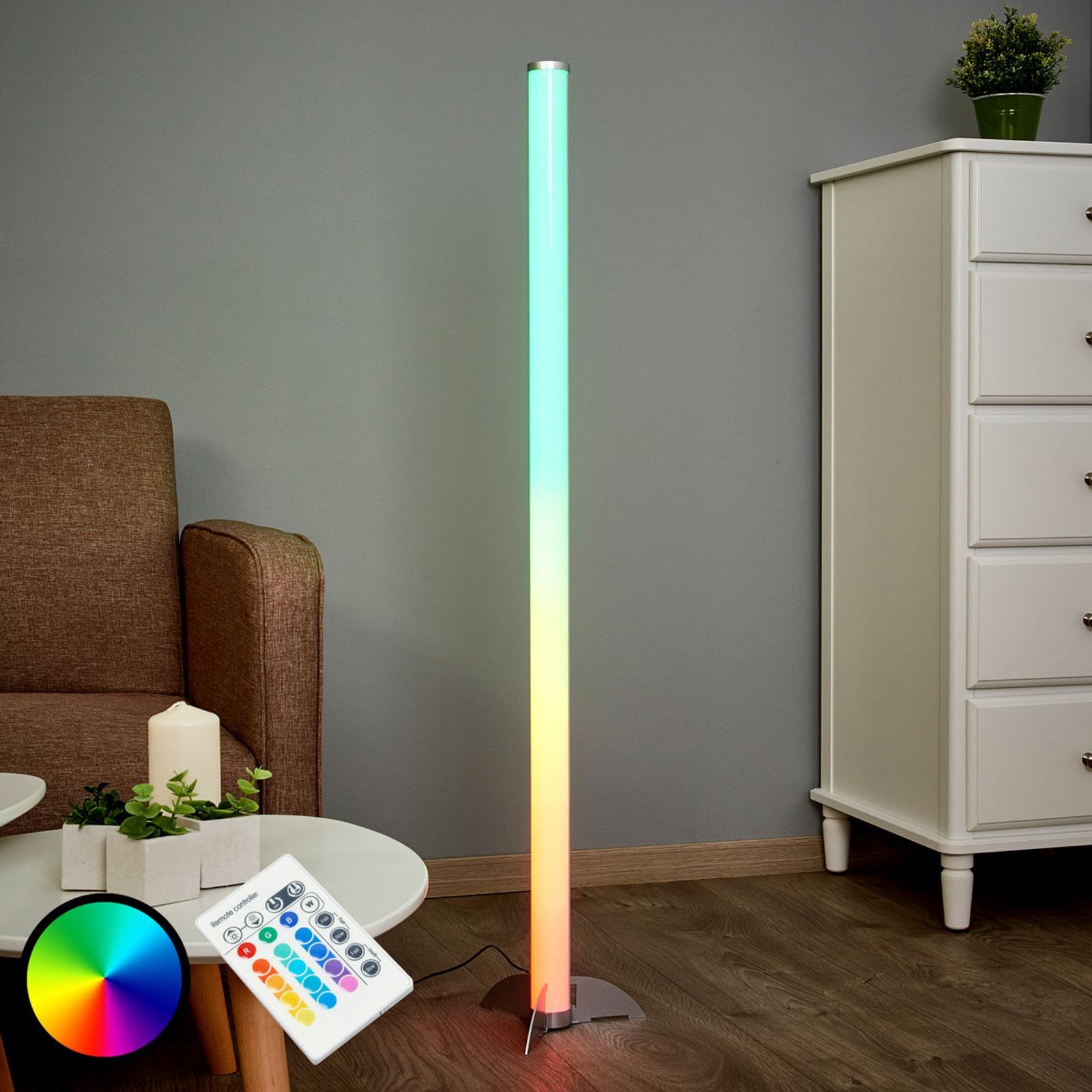Effektfull LED-stålampe Ilani RGB