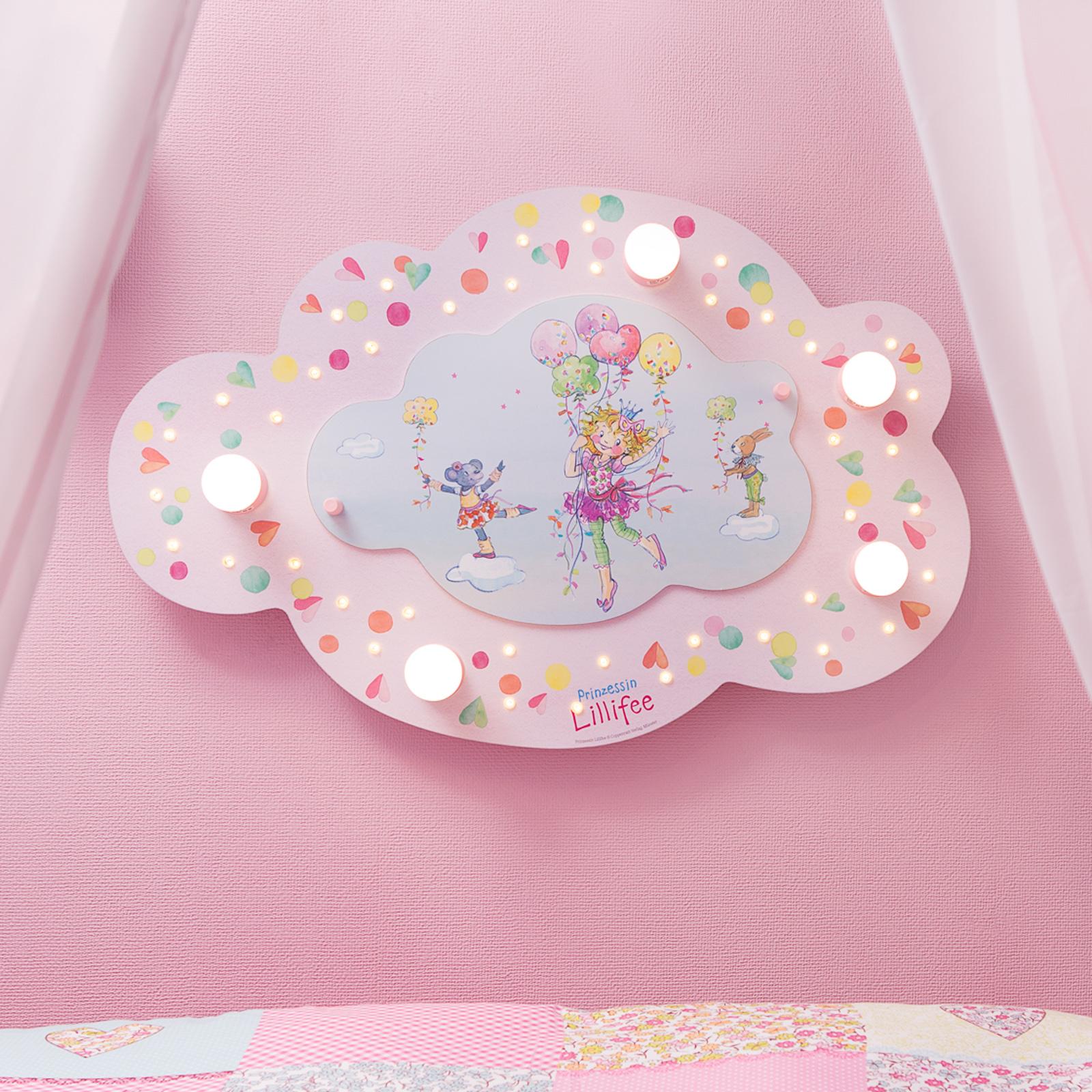 Taklampa prinsessan Lillifee med LED-lampor moln