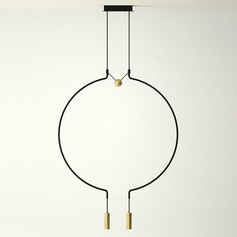 Axolight Liaison P2/M2 Hängelampe schwarz/gold